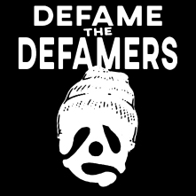 defame_2018white on black logo